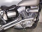 V Twin Chrome Sweeper Drag Exhaust Pipe 2 1 4 for 91 16 Harley Dyna FXD