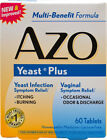 AZO Yeast Plus 60 Tabs Candida Yeast Infection Vaginal Odor  Discharge Remedy