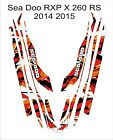 Sea-Doo Bombardier RXP X 260 RS 2014 2015 Jet Ski Graphic Kit Wrap pwc decals 6