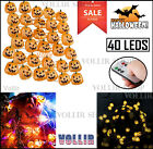 40 LED Battery Remote Control Operated Halloween Pumpkin Jack Light Decoration
