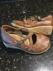 Carters Baby Girl Shoes Brown Butterfly Size 5 Excellent Condition