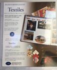 New Creative Memories Textiles Printed Paper Pack12 Sheets 6 Colors 10x12