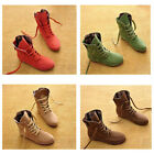 Womens Ankle Boots Nubuck Leather Moccasins Lace Up High top Shoes US Size 5 9