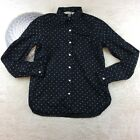 Old Navy The Classic Shirt Women Button Down Casual Blouse Polka Dot Top Size XS