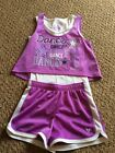 EUC Justice Girls Dance Outift Tank  Shorts Size 8 Super Cute