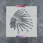 Native American Indian Stencil Reusable Stencil in Multiple Sizes