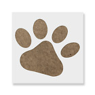 Dog Paw Stencil - Reusable Stencil Of Animal Paw Print In Small