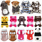 Small Pet Puppy Cute Hoodie Coat Sweater Clothing Chihuahua Poodle Warm Dog Coat