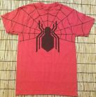 Marvel Spider Man Graphics Adult Mens Red SS Crew Neck Spider Web Print size XS