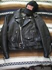 Womens Diamond Black Leather Motorcycle Jacket Sz 42 with Harley Girl Cap