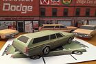 Papercraft 1972 Dodge Polara Station Wagon green Paper Model Car EZU-make