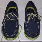 Sperry Top Sider Billfish Navy Blue Light Green accents Mens 105M worn once