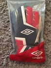 New Umbro Rift Soccer Goalie Gloves Red White Blue Size 6 Goal Keeper