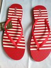 NWT REEF Chakras Prints Red Stripe Womens Flip Flops Sz 9 free shipping