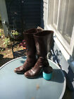 Born Tall Brown Knee High Leather Boots Size 8 M