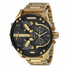 NEW DIESEL DZ7333 MENS MR DADDY 2.0 57MM CHRONOGRAPH GOLD BIG DIAL WATCH