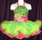 CUSTOM NATIONAL XMAS GRiNCH PAGEANT CASUAL WEAR 2T 4T