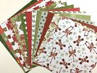 12X12 Scrapbook Paper Lot 14 Sheets Christmas Country Prints Card Making L146