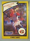 *Rare* 1990 Kenner Starting Lineup Cards #66B Chris Sabo RY *Hard to Find*