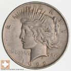 Over 90 Years Old 1922 Peace Silver Dollar 90 Silver 208