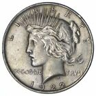Early 1922 Peace Silver Dollar 90 US Coin 812