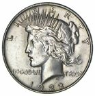 Early 1922 Peace Silver Dollar 90 US Coin 806