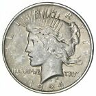 Early Better 1924 Peace Silver Dollar 90 US Coin 091