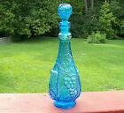 VIntage Teal/Blue GENIE BOTTLE Decanter MId Century 13