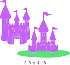 Fairy Castles Etched metal cutting die free shipping for scrapbook DIY Card