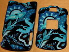 flower blue Motorola V3 V3M v3c RAZR phone Faceplate Cover case SNAP ON HARD