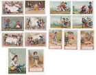 Lot of 15 Victorian Cards with Children 19th Century