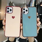 For iPhone 8 6s 7 Plus Cute Heart Glossy Slim Soft Silicone TPU Back Case Cover