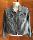Lee Riveted Vintage Womens Denim Jean Trucker Jacket Size Large