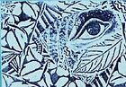 Funky Eye Design ATC Unmounted Rubber Stamp Deep Etched for Paper