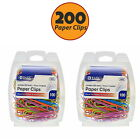 Lot of 200 Plastic Coated Jumbo Paper Clips Assorted Color 50 mm