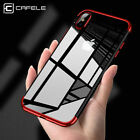 For iPhone X 8 7 6s Plus Shockproof Plating Clear Slim Hybrid Bumper Case Cover