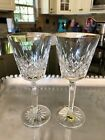 2 Waterford Crystal Golden Lismore Tall 7 1/4