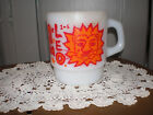 VNTG Fire King Horoscope Zodiac Stacking Mug/Coffee Cup Milk Glass LEO LION only