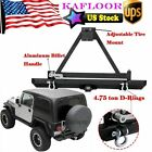 Rock Crawler Rear Bumper With Tire Carrier Swing For 1987 06 Jeep Wrangler TJ YJ