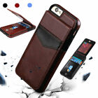 For iPhone 8 7 6 Plus Leather Wallet Card Slot Holder Flip Stand Back Cover Case