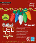 Holiday LED Lights C9 Ceramic Style Multi Colored Christmas Decoration