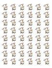 48 BABY GOAT ENVELOPE SEALS LABELS STICKERS 12 ROUND