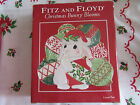 **NEW IN BOX**FITZ AND FLOYD CHRISTMAS BUNNY BLOOMS PLATTER~CANAPE PLATE~ CUTE!