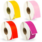 DYMO LW 30252 Address Labels FOUR Rolls 1 Roll each PURPLE RED PINK YELLOW