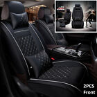 2017 Deluxe Auto Car Seat Covers PU Leather 5 Seats Cushions 2 Front w Pillows
