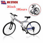 New 26 Wheel Folding Foldable Steel Mountain Bicycle Bike Front Suspension UK