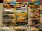 Hot Wheels MOONEYES lot of 5 vw van kool kombi black yellow p s camaro charger