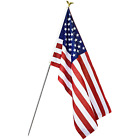 3x5 Ft American Flag Stripes Polyester USA US US STARS Edges Embroidered Sewn