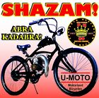 26 BIKE WITH NEW 2 STROKE 66CC 80CC MOTORIZED BICYCLE KIT AND POWER PIPE