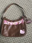 Hello Kitty Brown Faux Leather Handbag With Pink And Brown Cow Spots
